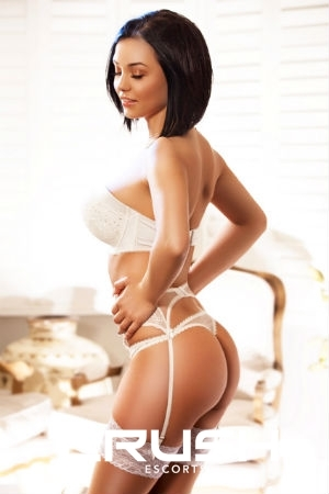 Lucy From Crush Escorts Wearing White Lingerie