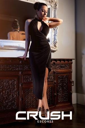 Aleeza, black dress.