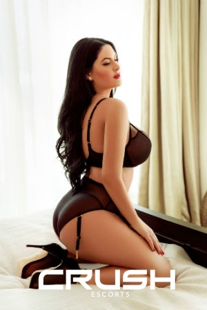 Pamela From Crush Escorts Wearing Black See-Through Lingerie