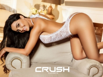 Brigite From Crush Wearing White Lingerie