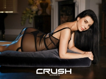 Paula From Crush Escorts Wearing Black Lingerie
