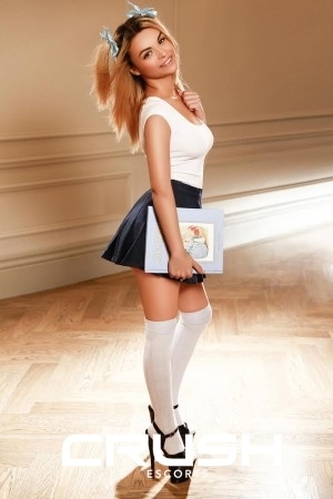 Ellen from Crush escorts is looking hot in a school girl outfit.